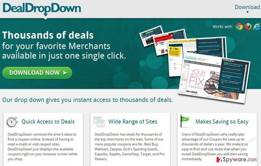 DealDropDown snapshot