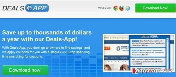 Ads by Deals App snapshot