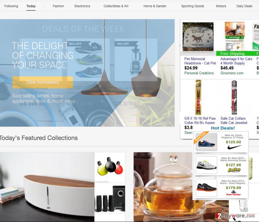 Deals Kind ads on shopping websites