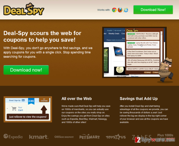 DealSpy virus snapshot