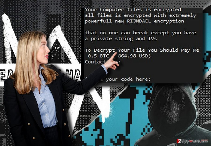 The image illustrating DeathNote Hackers malware