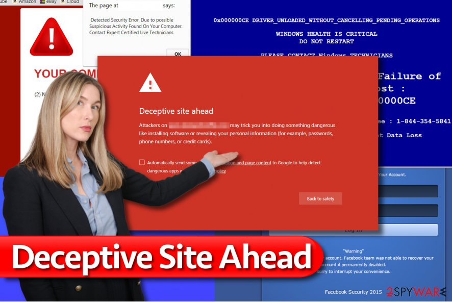 Deceptive Site Ahead message