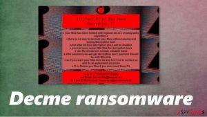 Decme ransomware