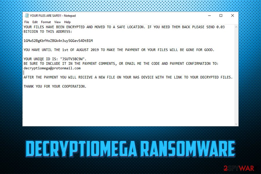 DecryptIomega ransomware