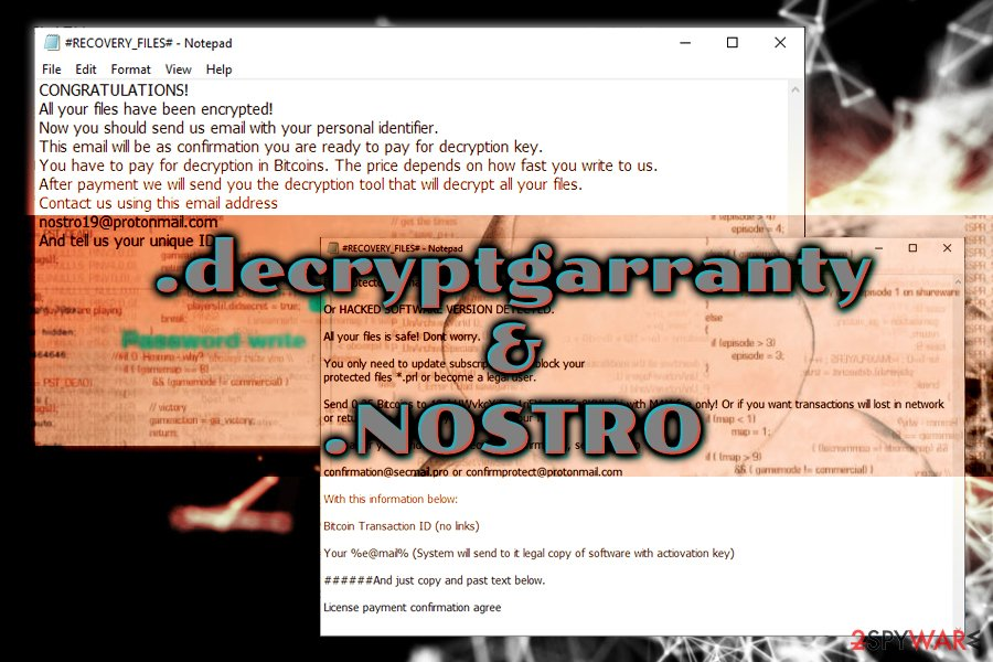 .decryptgarranty and .NOSTRO variants