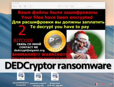 Message from DEDCryptor virus