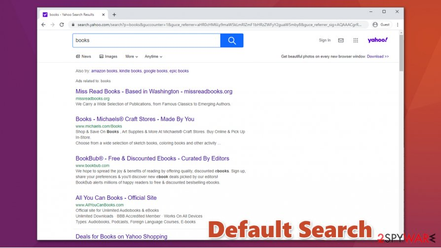 Default Search redirect
