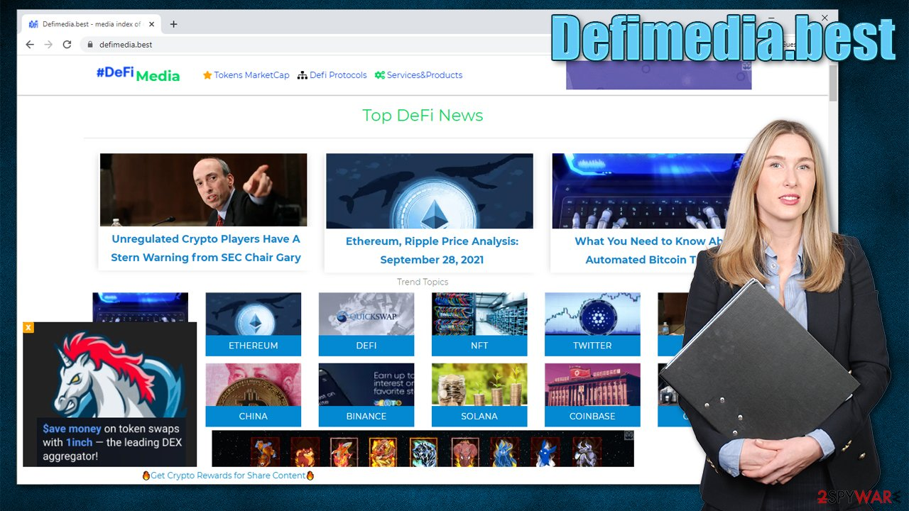 Defimedia.best virus