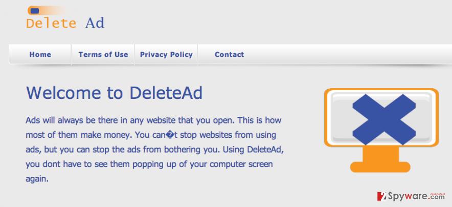 DeleteAd adware