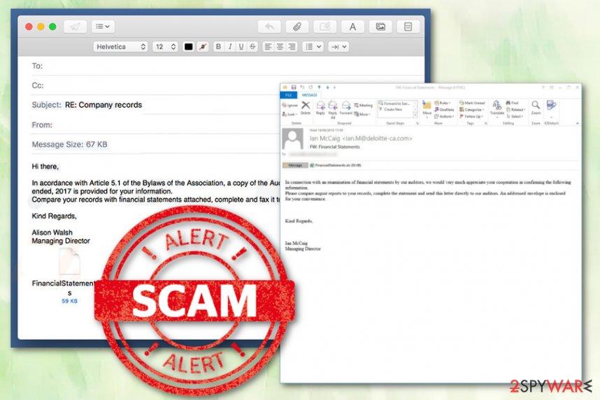 Deloitte Email Virus malware