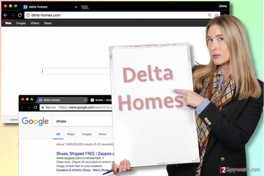 Delta Homes redirect virus