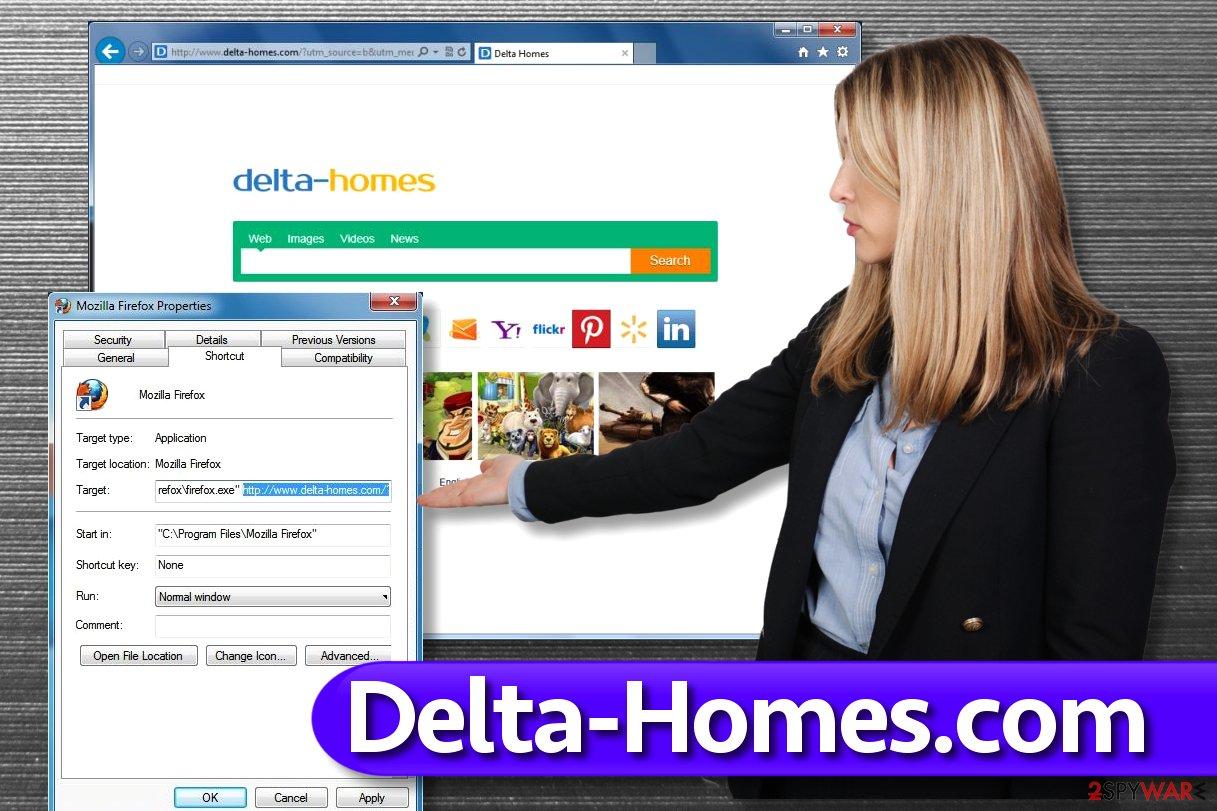Delta-Homes.com browser redirect virus