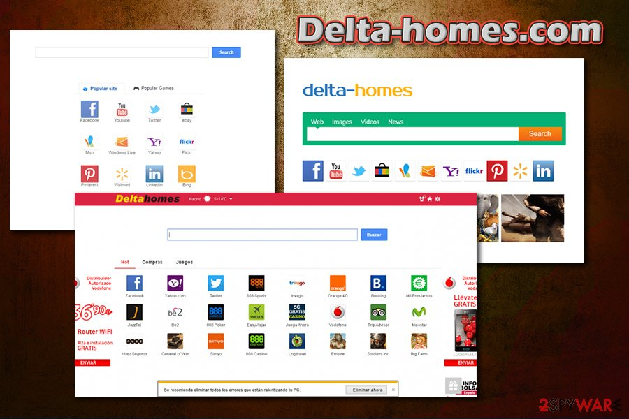Delta-Homes.com hijack