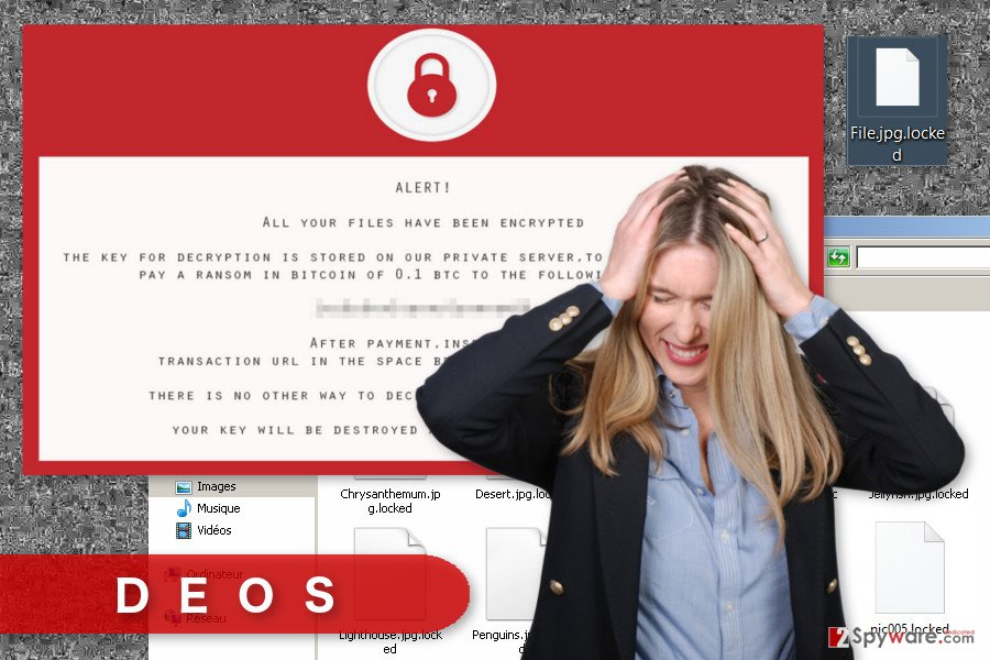 The image of Deos ransomware virus