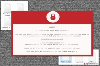 Ransom note by Deos ransomware virus