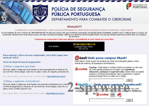 Departamento Para Combater O Cibercrime virus snapshot