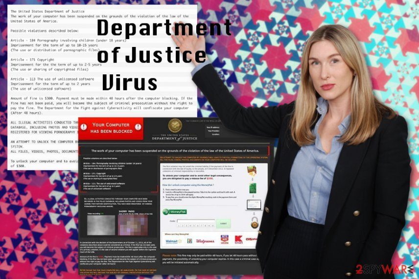 Department of Justice virus ransomware