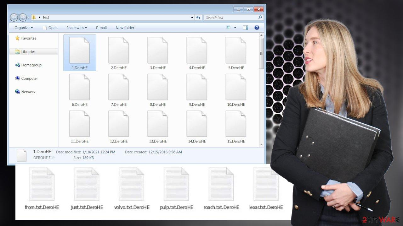 DeroHe ransomware virus