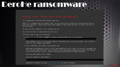 DeroHe ransomware