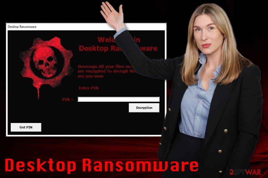 Desktop Ransomware lock screen