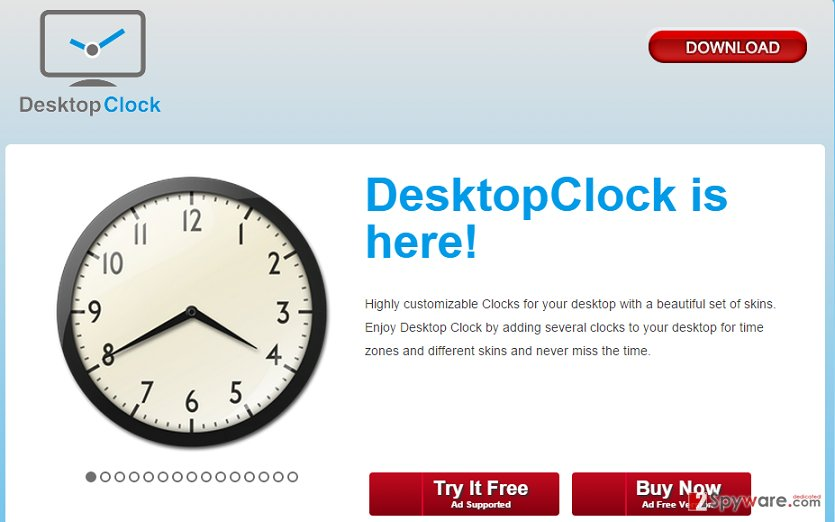 DesktopClock ads