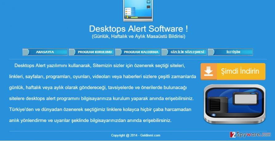 Desktops Alert virus