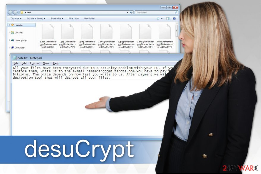 The illustration of desuCrypt ransomware