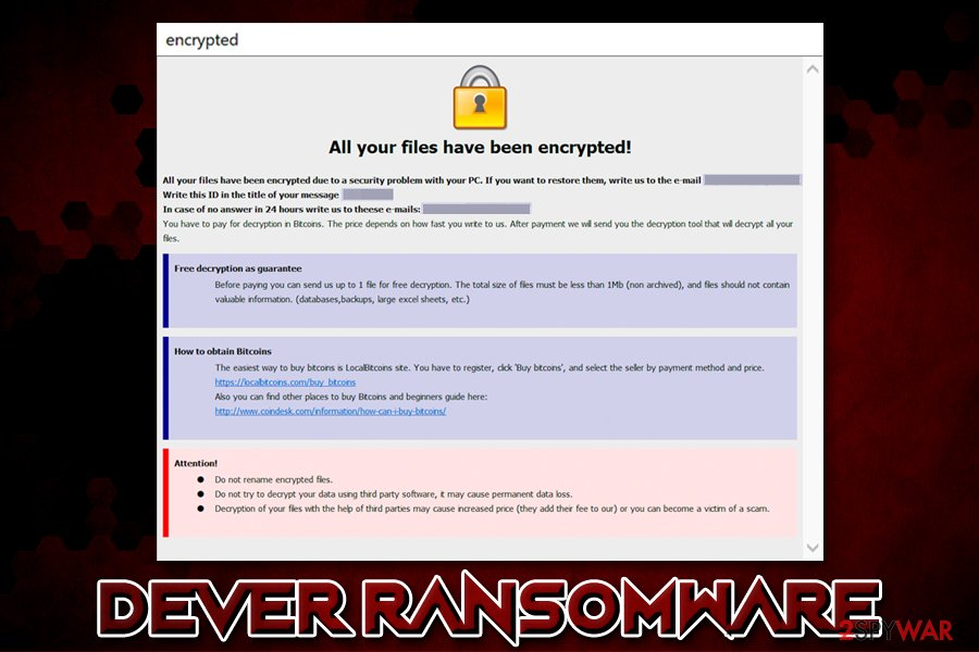 Dever ransomware