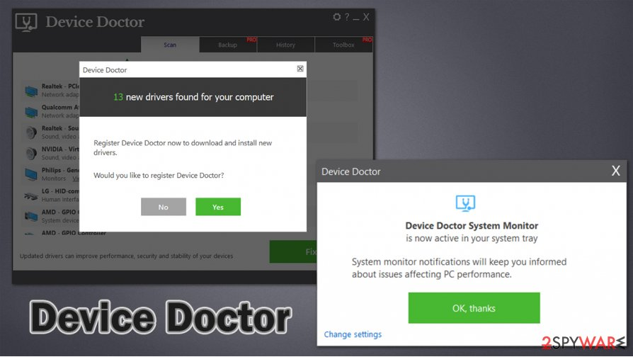 Device Doctor scam