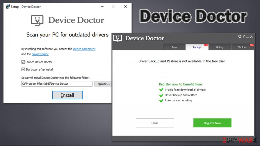 Device Doctor features