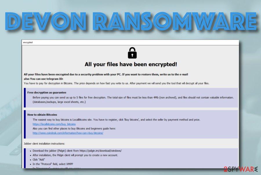 Devon ransomware virus
