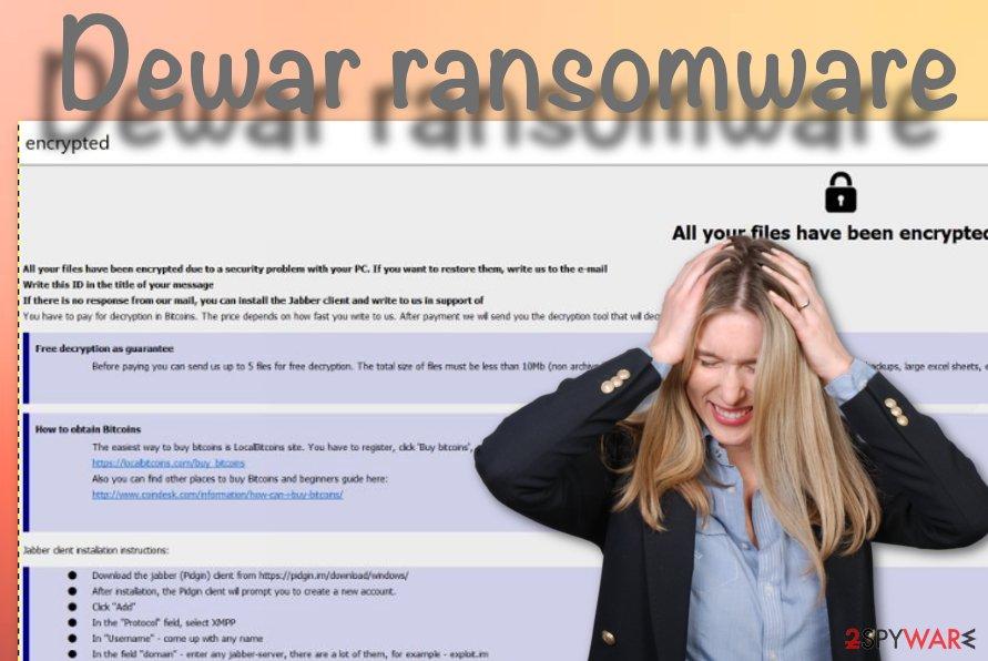 Dewar ransomware virus