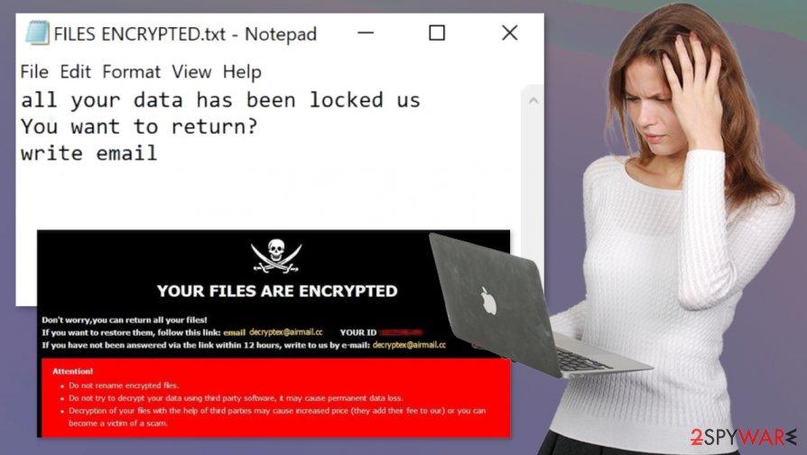 Dex ransomware virus