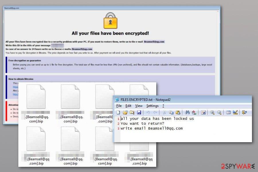 Dharma Bip ransomware example