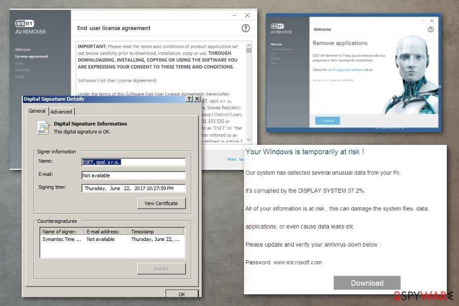 Dharma ransomware distribution involves AV tool