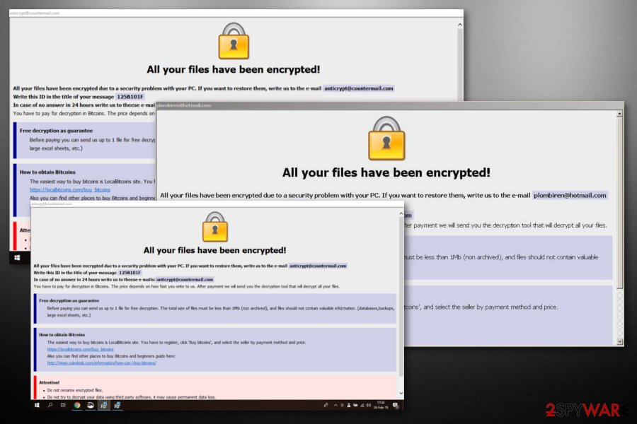 Dharma ransomware  34 Variants listed  2019 removal guide