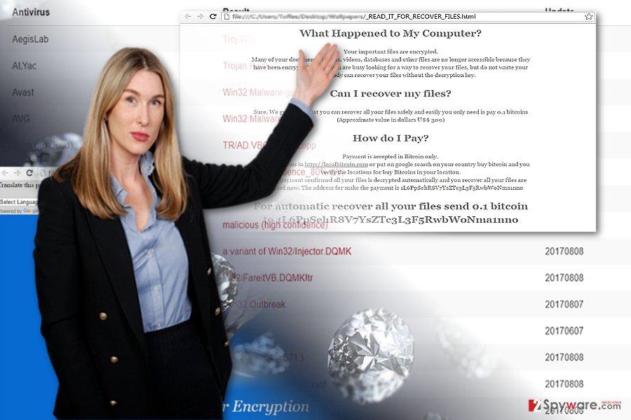 The screenshot of Diamond Computer Encryption