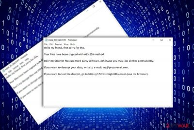 The screenshot of the original DCry ransom note