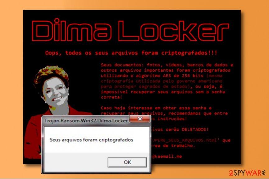 DilmaLocker ransomware