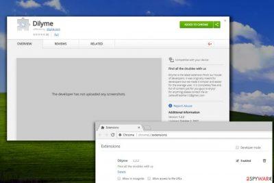 Dilyme virus in Chrome browser