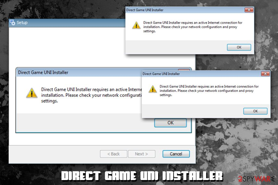 Direct Game UNI Installer malware