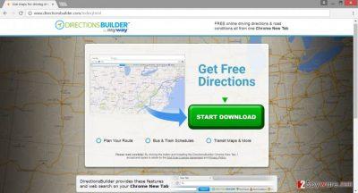 The screenshot of DirectionsBuilder Toolbar