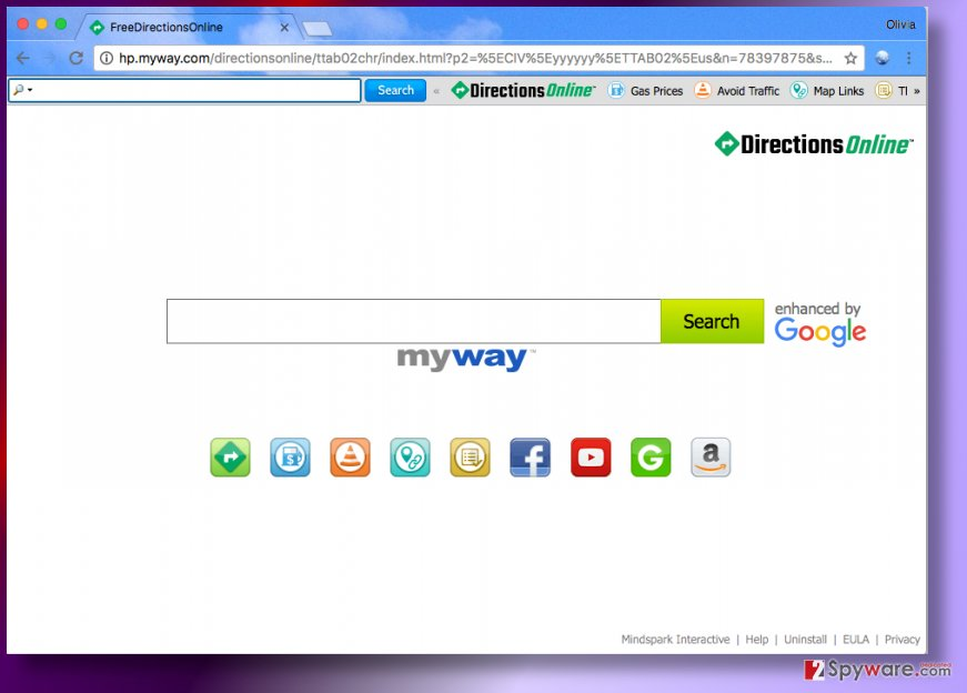 DirectionsOnline Toolbar