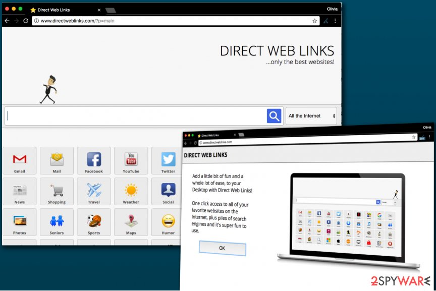 DirectWebLinks.com browser hijacker