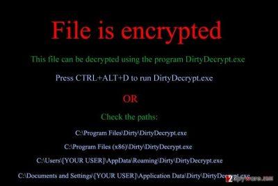 DirtyDecrypt virus