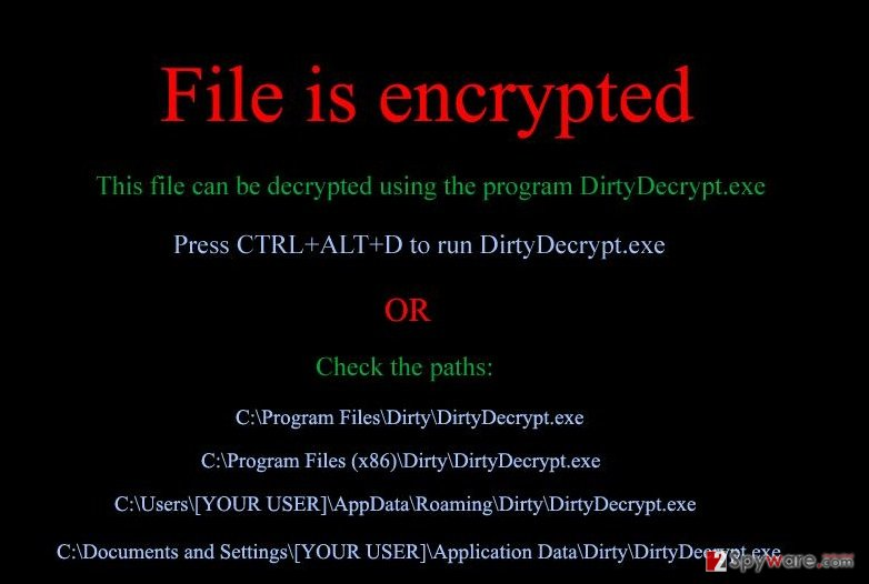 DirtyDecrypt virus