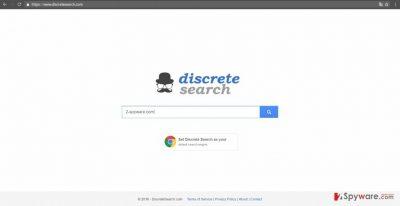 The screenshot of discretesearch.com