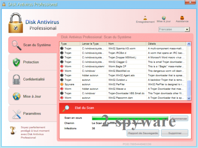 Disk Antivirus Professional snapshot