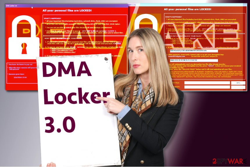 DMA Locker 3.0 ransomware
