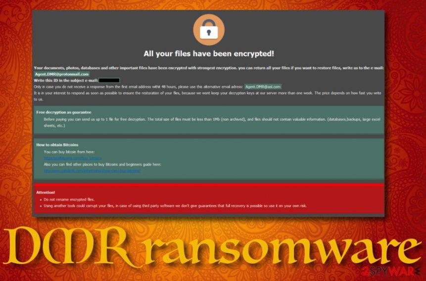 DMR ransomware virus